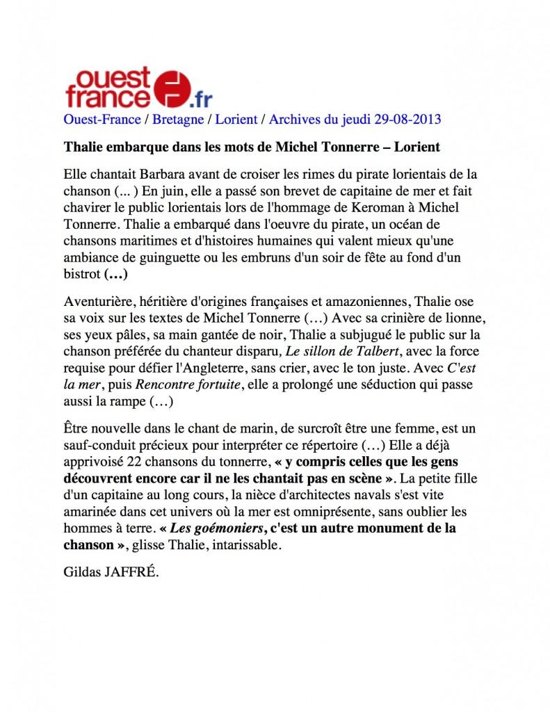 Ouest France 1 texte