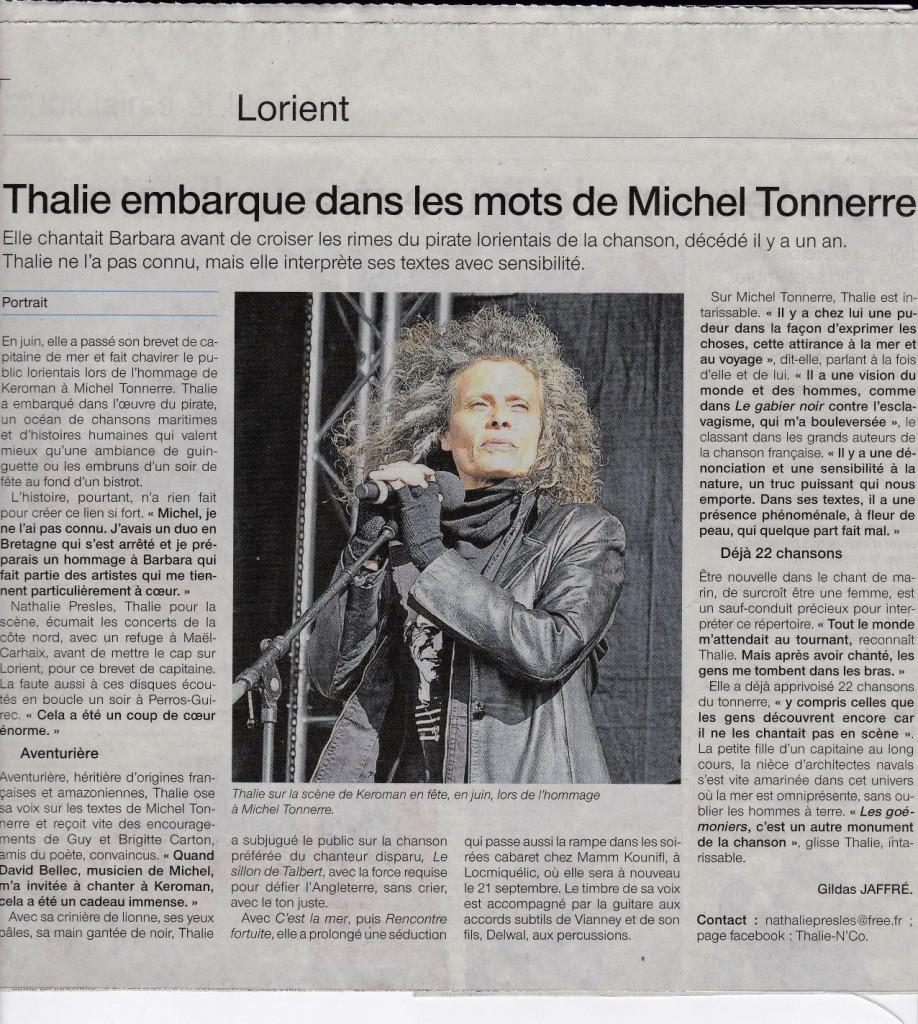 Thalie embarque dans les mots de M. Tonnerre