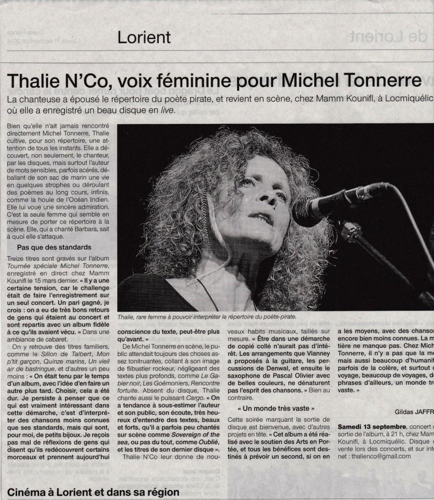 Voix feminine pour M.Tonnerre