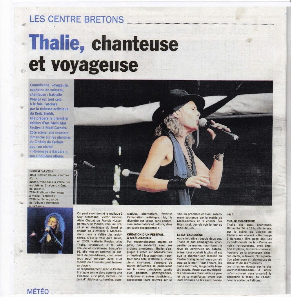 Article Le Poher 20 Janvier