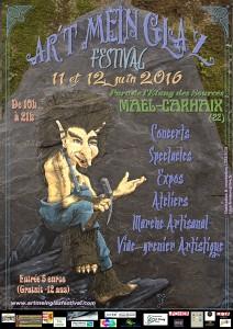 A5   Ar't Mein Glaz Festival  Flyer